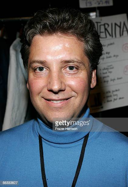 Designer Atil Kutoglu poses backstage at the Atil Kutoglu Spring 2006 fashion show during Olympus Fashion Week at Bryant Park September 10 2005 in...