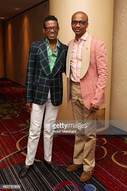 Designer B Michael and MarkAnthony Edwards attend the Trevor Project's 2014 'TrevorLIVE NY' Event at the Marriott Marquis Hotel on June 16 2014 in...