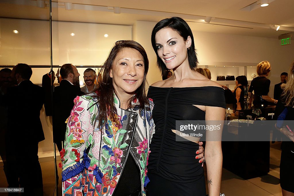 Designer Barbara Bui (L) and actress <a gi-track='captionPersonalityLinkClicked' href=/galleries/search?phrase=Jaimie+Alexander&family=editorial&specificpeople=544496 ng-click='$event.stopPropagation()'>Jaimie Alexander</a> attend designer Barbara Bui celebrates first West Coast visit at her Rodeo Drive boutique on June 12, 2013 in Beverly Hills, California.