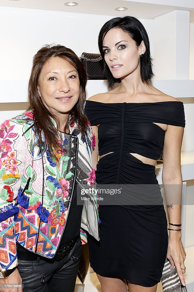 Designer Barbara Bui (L) and actress Jaimie Alexander attend designer Barbara Bui celebrates first West Coast visit at her Rodeo Drive boutique on June 12, 2013 in Beverly Hills, California.