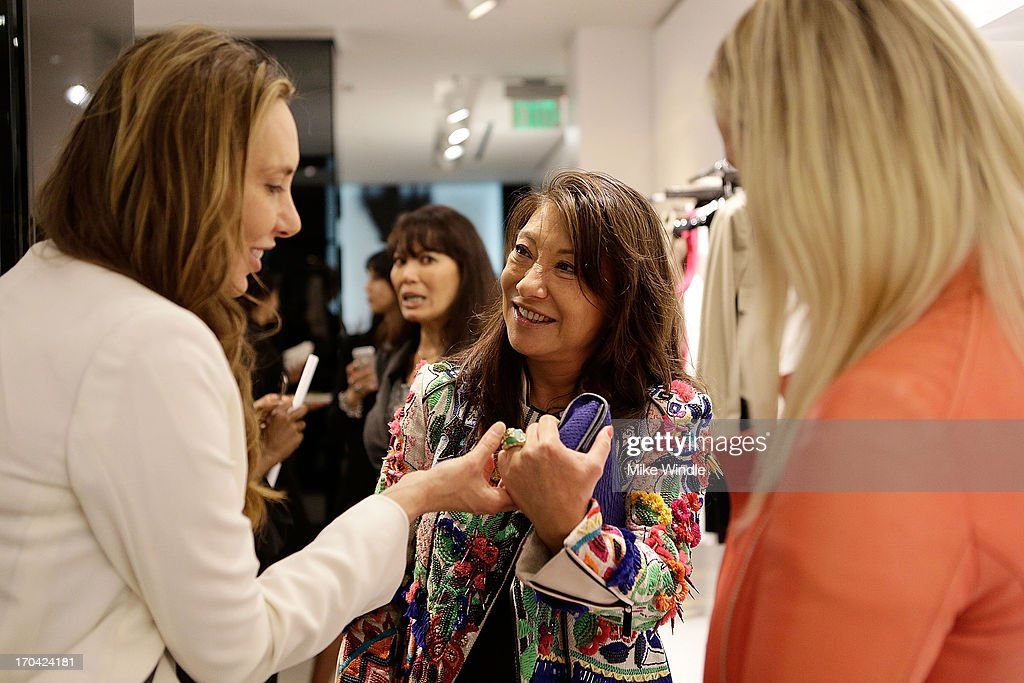 Designer Barbara Bui and guests attend designer Barbara Bui celebrates first West Coast visit at her Rodeo Drive boutique on June 12, 2013 in Beverly Hills, California.