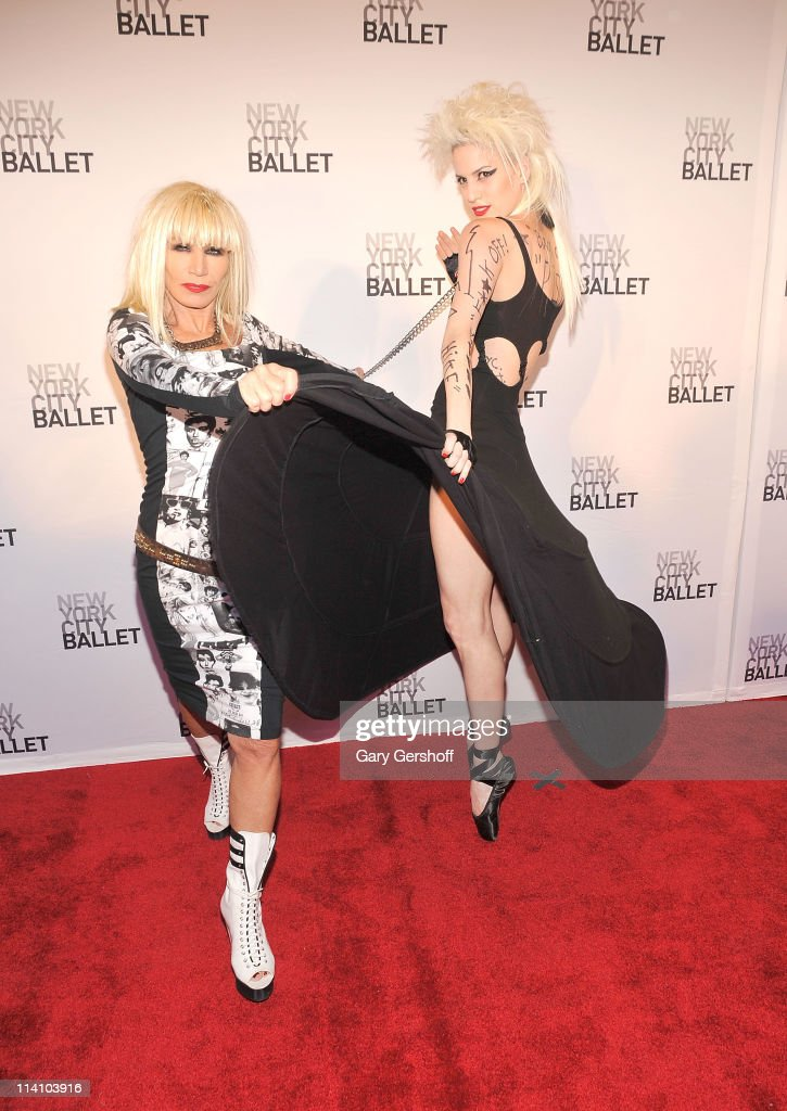 Designer Betsey Johnson (L) attends the 2011 New York City Ballet spring gala at the David H. Koch Theater, Lincoln Center on May 11, 2011 in New York City.