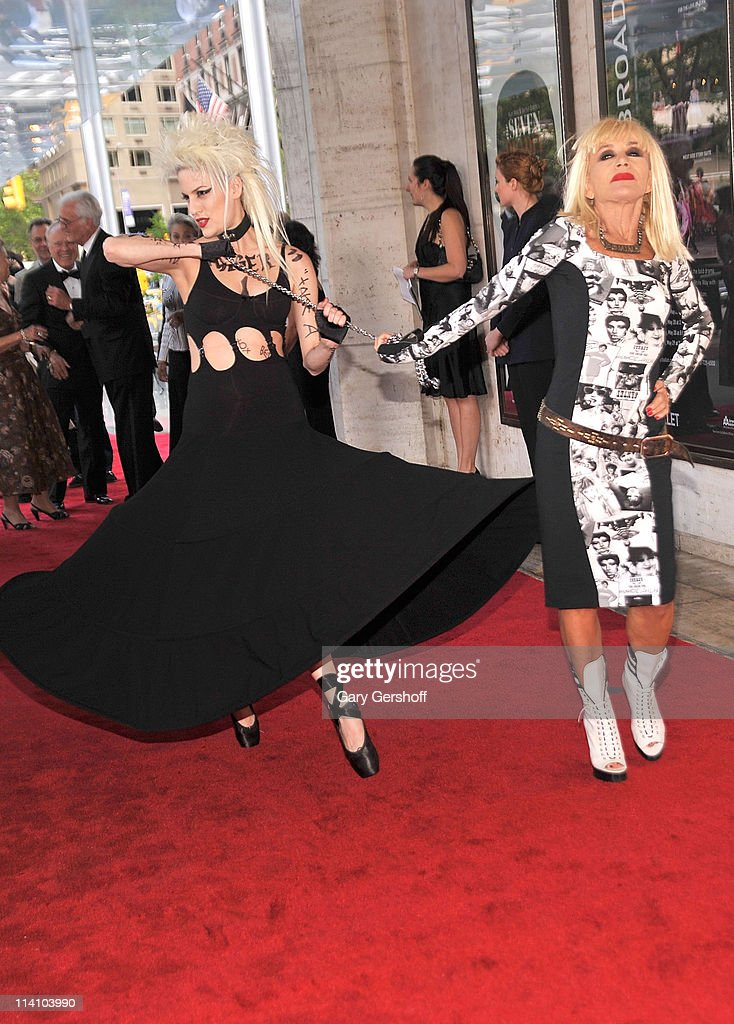 Designer Betsey Johnson (R) attends the 2011 New York City Ballet spring gala at the David H. Koch Theater, Lincoln Center on May 11, 2011 in New York City.