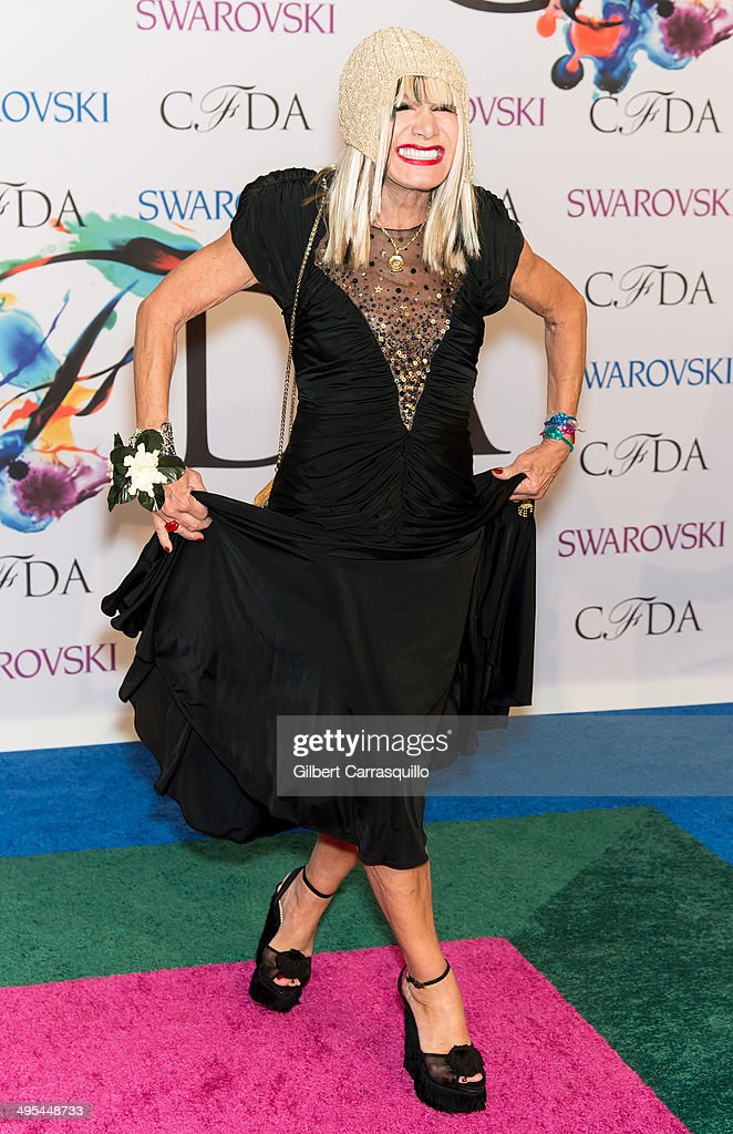 Designer Betsey Johnson attends the 2014 CFDA fashion awards at Alice Tully Hall, Lincoln Center on June 2, 2014 in New York City.