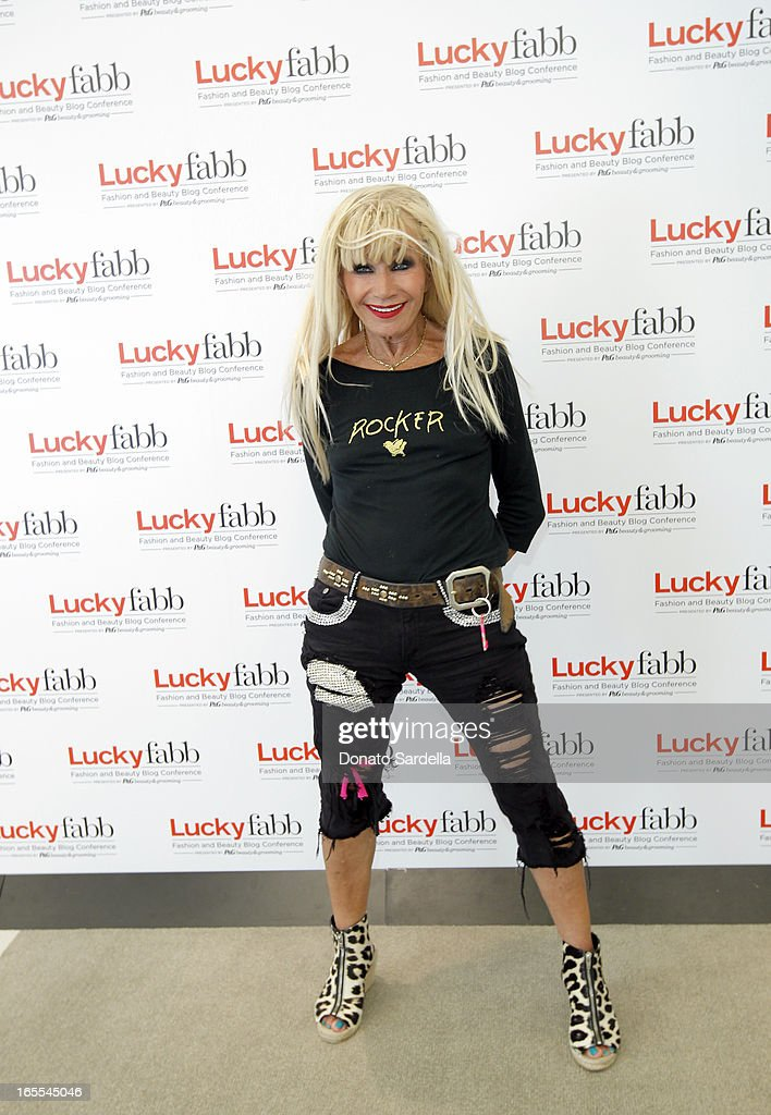Designer Betsey Johnson attends the first-ever Lucky Magazine two day FABB West at SLS Hotel on April 4, 2013 in Beverly Hills, California.