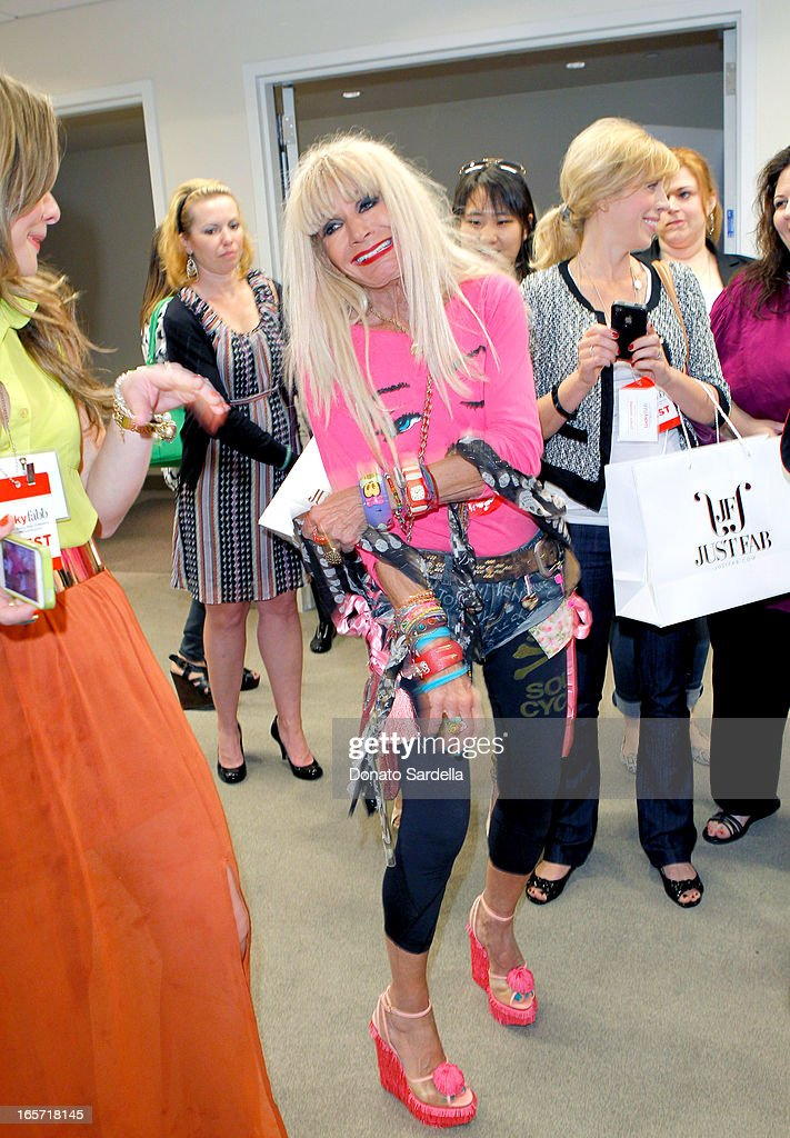 Designer Betsey Johnson attends the first-ever Lucky Magazine two day FABB West at SLS Hotel on April 5, 2013 in Beverly Hills, California.