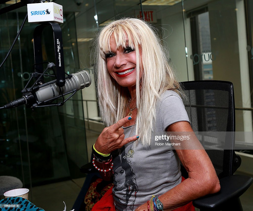 Designer Betsey Johnson visits at 'The Morning Jolt with Larry Flick' on SiriusXM OutQ at SiriusXM Studios on May 8, 2013 in New York City.