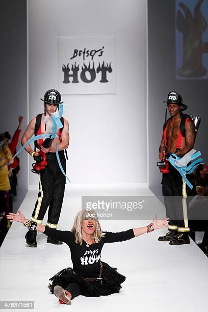 designer Betsey Johnson walks the runway during Betsey Johnson fashion show part of Style Fashion Week Day 4 at LA Live Event Deck on March 12 2014...