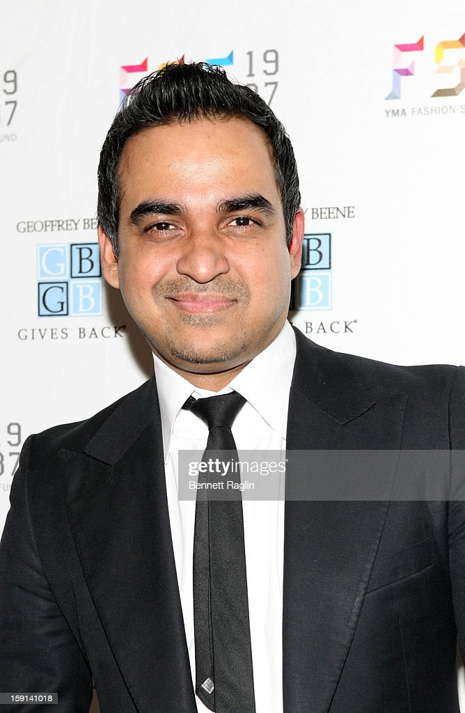 Designer Bibhu Mohapatra attends the 2013 YMA Fashion Scholarship Fund Geoffrey Beene Awards Dinner at The Waldorf=Astoria on January 8, 2013 in New York City.