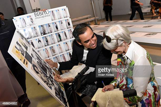 Designer Bibhu Mohapatra prepares for his Spring 2016 show during New York Fashion Week The Shows at The Gallery Skylight at Clarkson Sq on September...