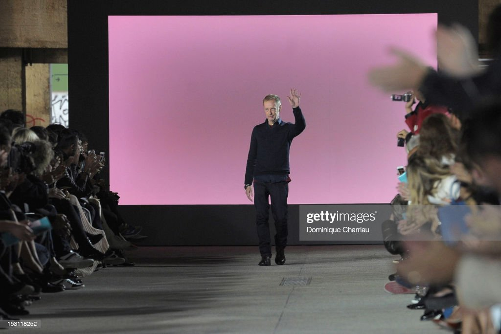 Designer Bill Gaytten for John Galliano during his Spring / Summer 2013 show as part of Paris Fashion Week on September 30, 2012 in Paris, France.