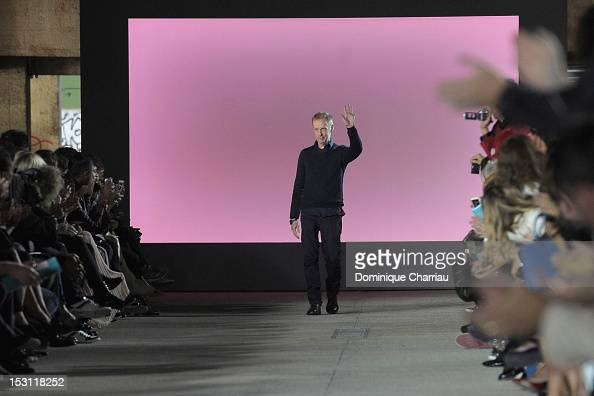 Designer Bill Gaytten for John Galliano during his Spring / Summer 2013 show as part of Paris Fashion Week on September 30 2012 in Paris France