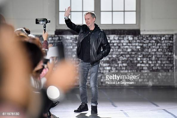 Designer Bill Gaytten is seen on the runway during the John Galliano show as part of the Paris Fashion Week Womenswear Spring/Summer 2017 on October...