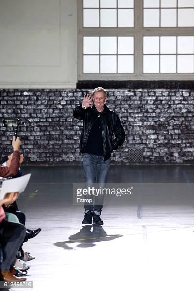 Designer Bill Gaytten walks the runway during the John Galliano designed by Bill Gaytten show as part of the Paris Fashion Week Womenswear...