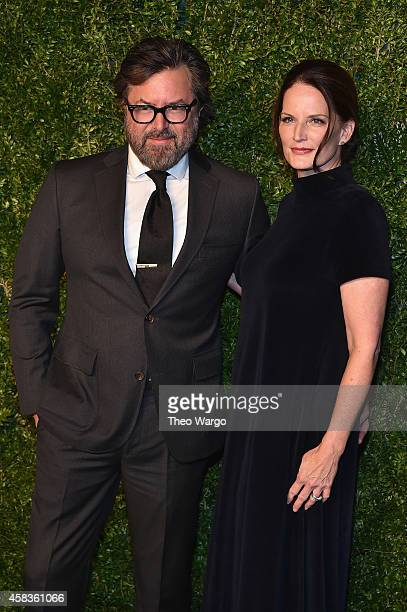 Designer Billy Reid and Jeanne Reid attend the 11th annual CFDA/Vogue Fashion Fund Awards at Spring Studios on November 3 2014 in New York City