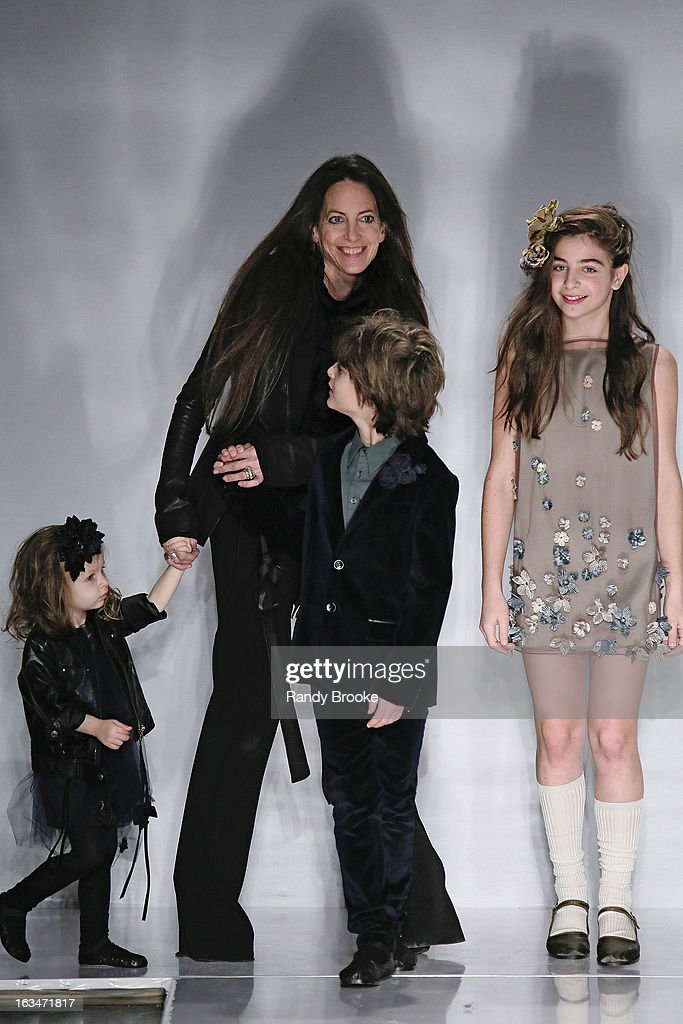 Designer Bonnie Young and family attend the Bonnie Young Fall/Winter 2013 Fashion Show at Industria Superstudio on March 10, 2013 in New York City.