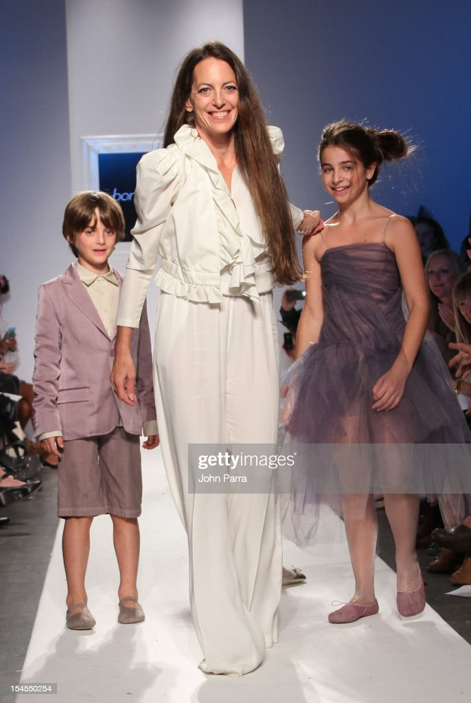 Designer Bonnie Young walks the runway at the Bonnie Young show during Petite Parade NY Kids Fashion Week In Collaboration With VOGUEbambini - Day 2 at Industria Superstudio on October 21, 2012 in New York City.