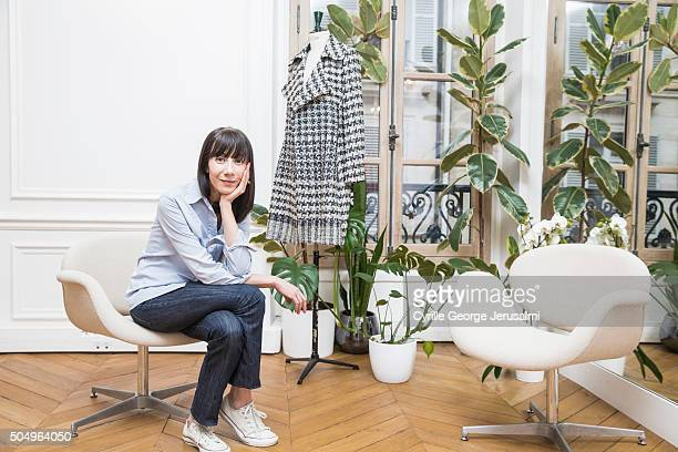 Designer Bouchra Jarrar is photographed for Self Assignment on January 19 2015 in Paris France