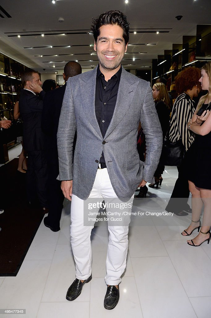 Designer Brian Atwood attends the CHIME FOR CHANGE One-Year Anniversary Event hosted by Gucci Creative Director Frida Giannini and T Magazine Editor-In-Chief Deborah Needleman at Gucci Fifth Avenue on June 3, 2014 in New York City.