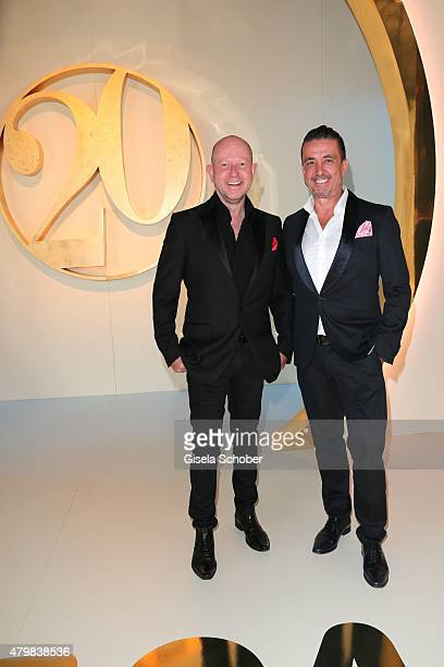 Designer Brian Rennie and his husband Ferdinand Rennie during the 20 year anniversary event of the home shopping channel HSE24 at Ziegelei on July 7...