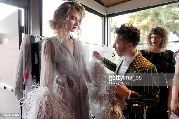Designer Brian Wolk at the Wolk Morais Collection 5 Fashion Show at Yamashiro on May 22 2017 in Los Angeles California