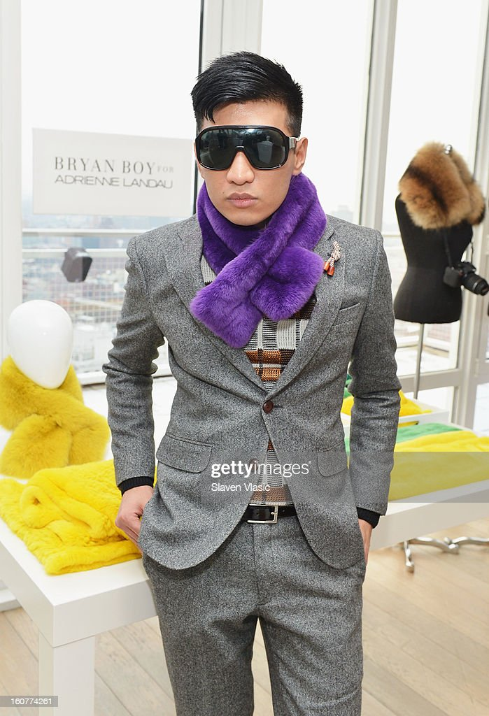 Designer Bryan Boy attends Bryan Boy For Adrienne Landau Presentation - Fall 2013 Mercedes-Benz Fashion Week at Mondrian SoHo on February 5, 2013 in New York City.