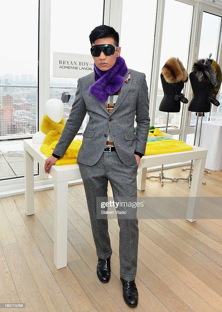 Designer Bryan Boy attends Bryan Boy For Adrienne Landau Presentation - Fall 2013 Mercedes-Benz Fashion Week at Mondrian SoHo on February 5, 2013 in New York City.