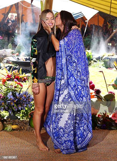 Designer Camilla Franks kisses model Georgia May Jagger at the end of the Camilla show during MercedesBenz Fashion Week Australia Spring/Summer...