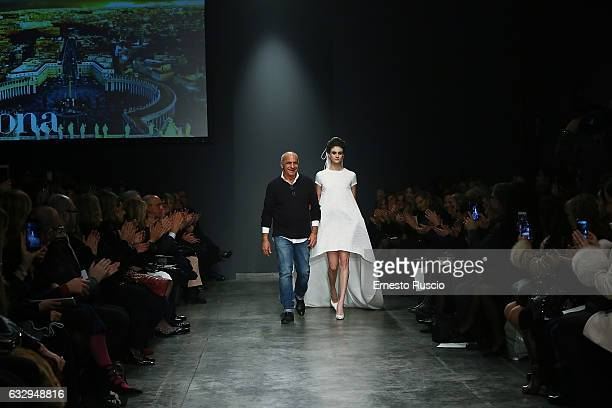 Designer Camillo Bona attends the 'Camillo Bona' fashion show during AltaRoma January 2017 on January 28 2017 in Rome Italy