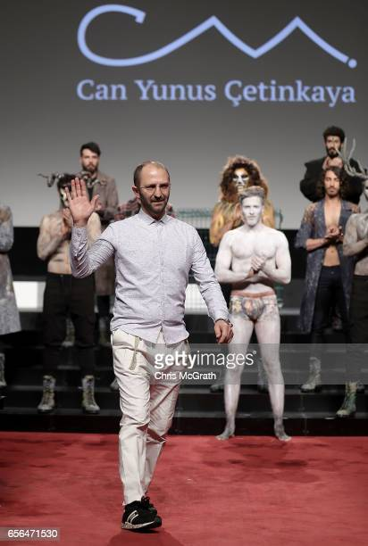 Designer Can YCetinkaya on the runway at the Can YCetinkaya show during MercedesBenz Istanbul Fashion Week March 2017 at Grand Pera on March 22 2017...