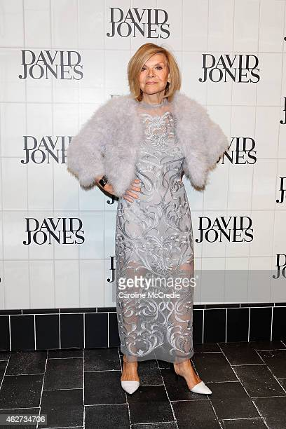Designer Carla Zampatti arrives at the David Jones Autumn/Winter 2015 Collection Launch at David Jones Elizabeth Street Store on February 4 2015 in...