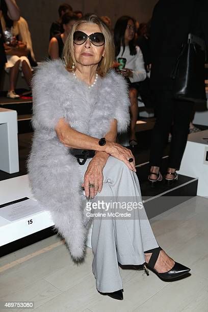 Designer Carla Zampatti attends the Bianca Spender show at MercedesBenz Fashion Week Australia 2015 at Carriageworks on April 15 2015 in Sydney...