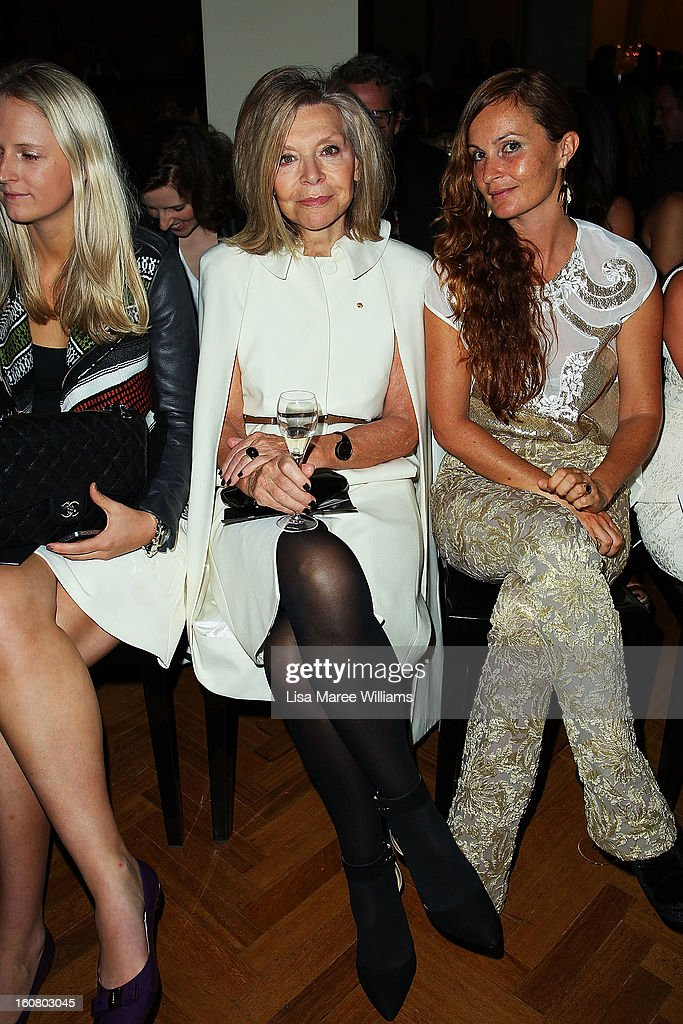 Designer Carla Zampatti sits in the front row during the David Jones A/W 2013 Season Launch at David Jones Castlereagh Street on February 6, 2013 in Sydney, Australia.