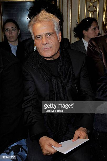 Designer Carlo Pignatelli attends the Francesco Scognamiglio Milan Fashion Week Womenswear A/W 2010 show on February 27 2010 in Milan Italy