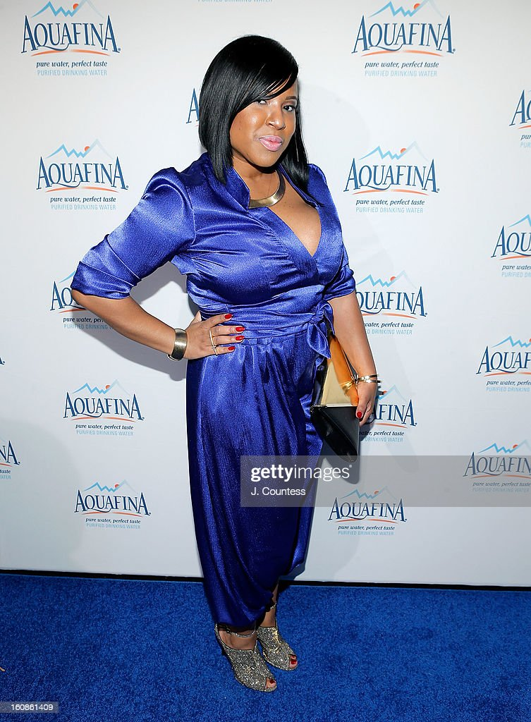 Designer Carmen Green of Baltimore, MD poses at Aquafina 'Pure Challenge' After Party prior to winning the Aquafina 'Pure Challenge' at The Empire Hotel Rooftop on February 6, 2013 in New York City.