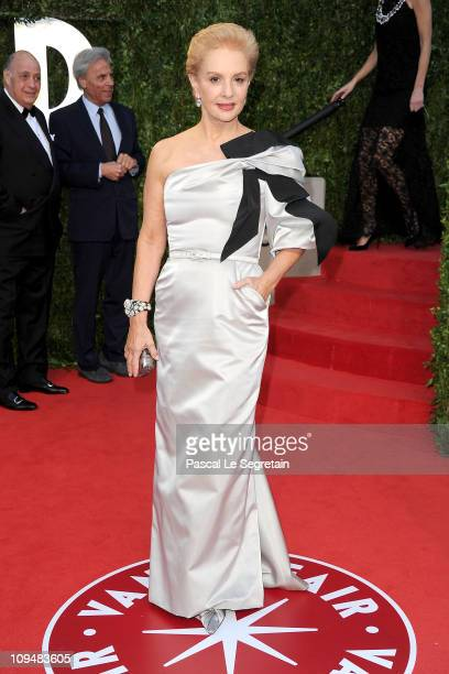 Designer Carolina Herrera arrives at the Vanity Fair Oscar party hosted by Graydon Carter held at Sunset Tower on February 27 2011 in West Hollywood...