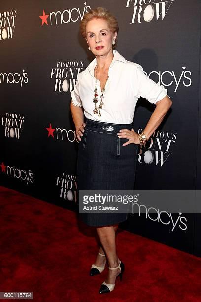 Designer Carolina Herrera attends Macy's Presents Fashion's Front Row on September 7 2016 in New York City