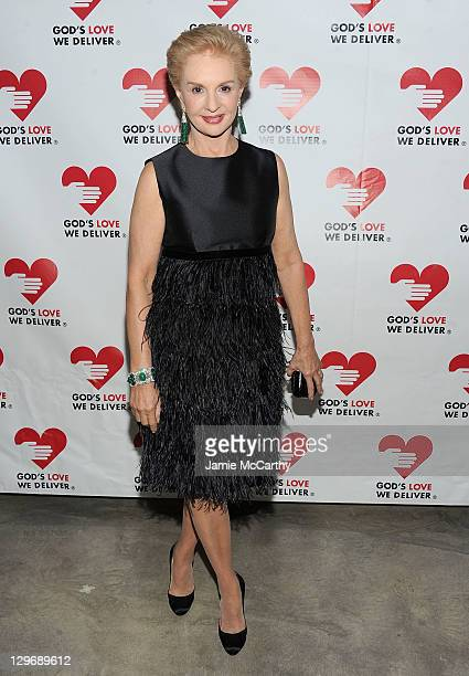 Designer Carolina Herrera attends the 2011 Golden Heart Awards at the Skylight SOHO on October 19 2011 in New York City