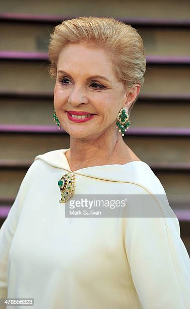 Designer Carolina Herrera attends the 2014 Vanity Fair Oscar Party hosted by Graydon Carter on March 2 2014 in West Hollywood California