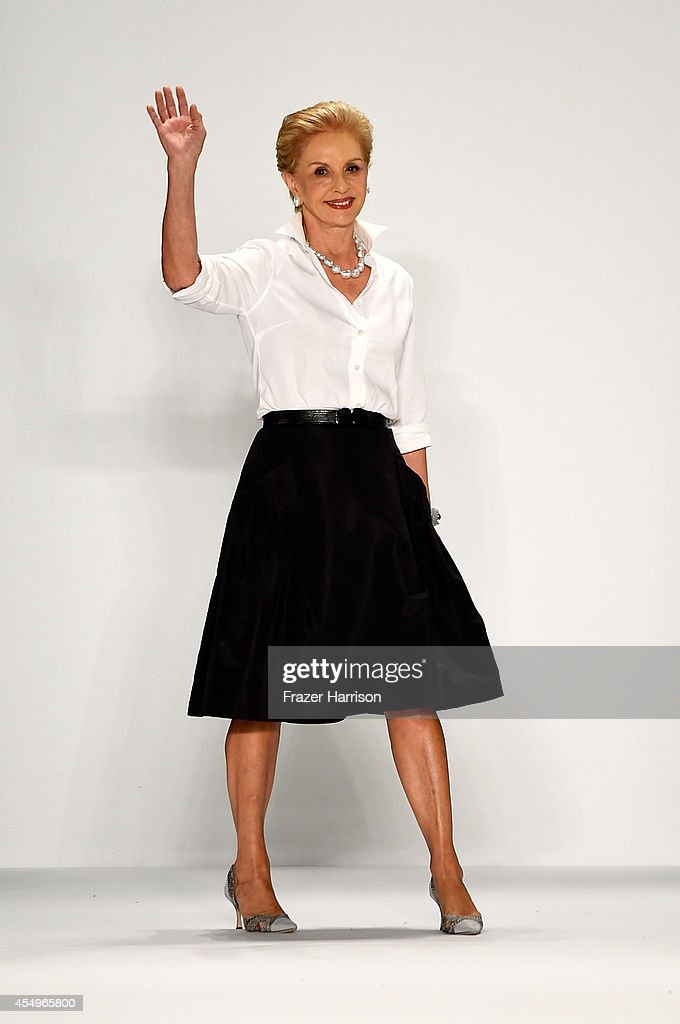 Designer <a gi-track='captionPersonalityLinkClicked' href=/galleries/search?phrase=Carolina+Herrera+-+Fashion+Designer&family=editorial&specificpeople=4205481 ng-click='$event.stopPropagation()'>Carolina Herrera</a> walks the runway at the <a gi-track='captionPersonalityLinkClicked' href=/galleries/search?phrase=Carolina+Herrera+-+Fashion+Designer&family=editorial&specificpeople=4205481 ng-click='$event.stopPropagation()'>Carolina Herrera</a> fashion show during Mercedes-Benz Fashion Week Spring 2015 at The Theatre at Lincoln Center on September 8, 2014 in New York City.