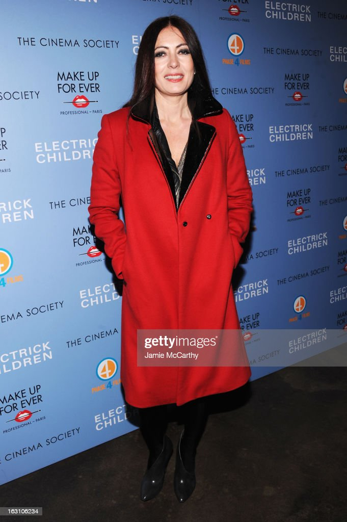 Designer Catherine Malandrino attends The Cinema Society & Make Up For Ever screening of 'Electrick Children' at IFC Center on March 4, 2013 in New York City.