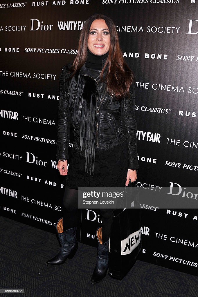 Designer Catherine Malandrino attends The Cinema Society with Dior & Vanity Fair screening of 'Rust And Bone' at Landmark Sunshine Cinema on November 8, 2012 in New York City.