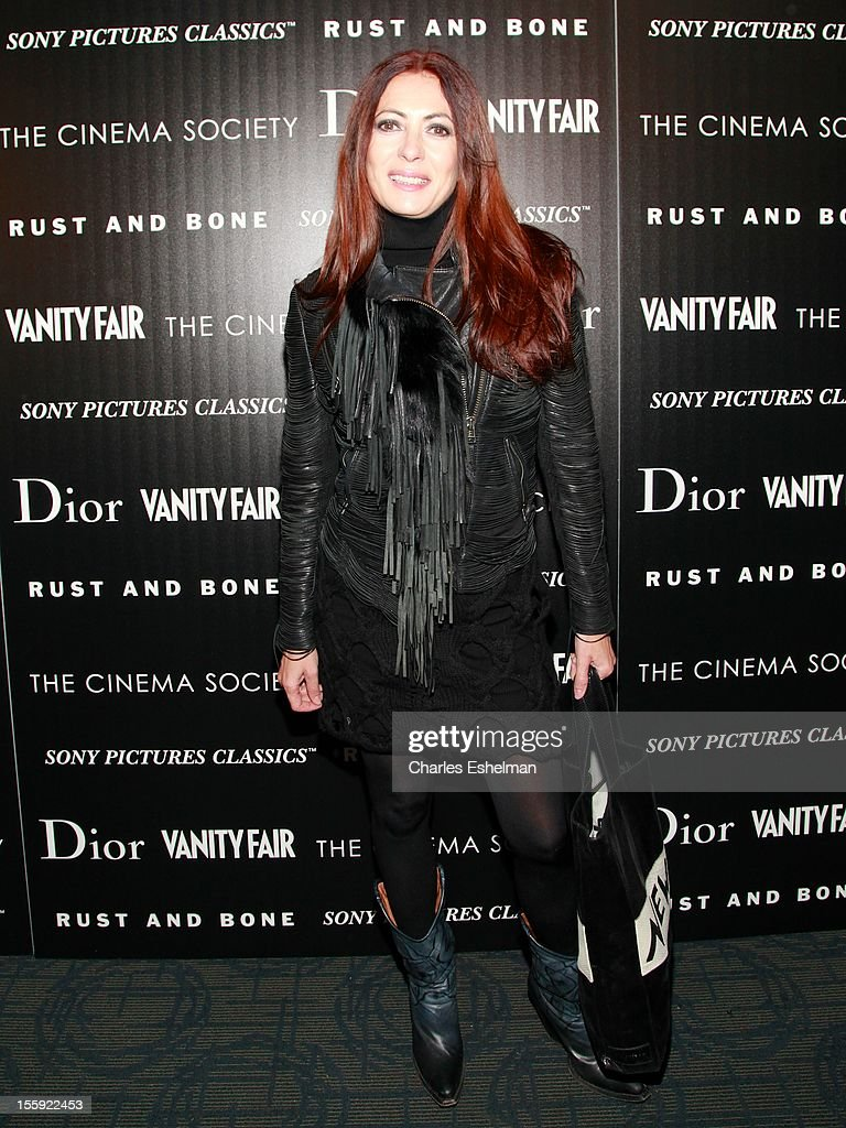 Designer Catherine Malandrino attends The Cinema Society with Dior & Vanity Fair host a screening of 'Rust and Bone' at Landmark Sunshine Cinema on November 8, 2012 in New York City.