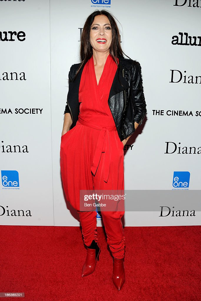 Designer Catherine Malandrino attends The Cinema Society with Linda Wells & Allure Magazine premiere of Entertainment One's 'Diana' at SVA Theater on October 30, 2013 in New York City.