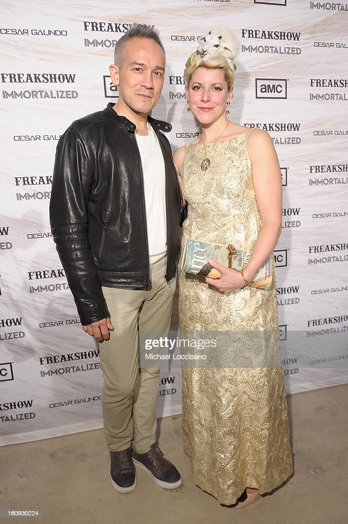 Designer Cesar Galindo and Beth Beverly attend Immortal Love Pop-up Experience - Freakshow & Immortalized on February 7, 2013 in New York City.