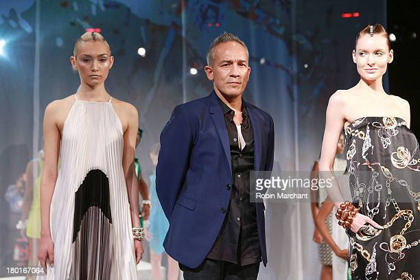 Designer Cesar Galindo attends the Czar By Cesar Galindo presentation during Spring 2014 MercedesBenz Fashion Week at The Box at Lincoln Center on...