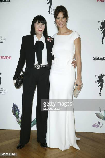 Designer Chantal Thomass and Miss France 1999 Mareva Galanter attend 'Les Bonnes Fees' Charity Gala at Hotel D'Evreux on March 20 2017 in Paris France