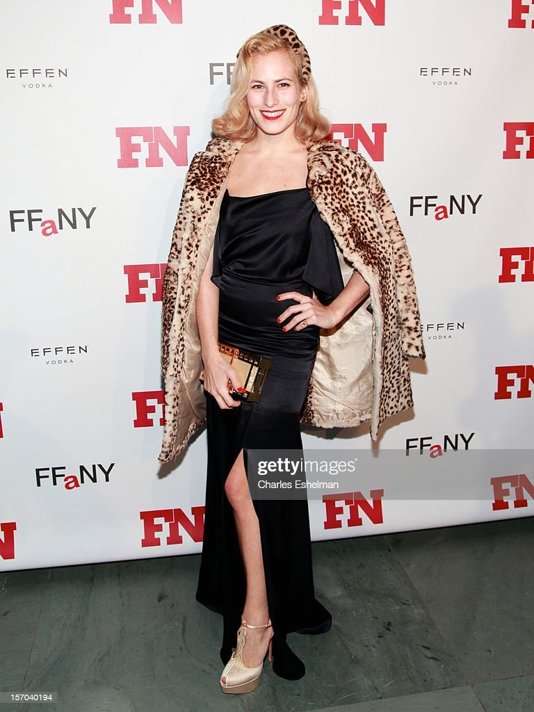 Designer Charlotte Dellal attends the 2012 Footwear News Achievement awards at The Museum of Modern Art on November 27, 2012 in New York City.