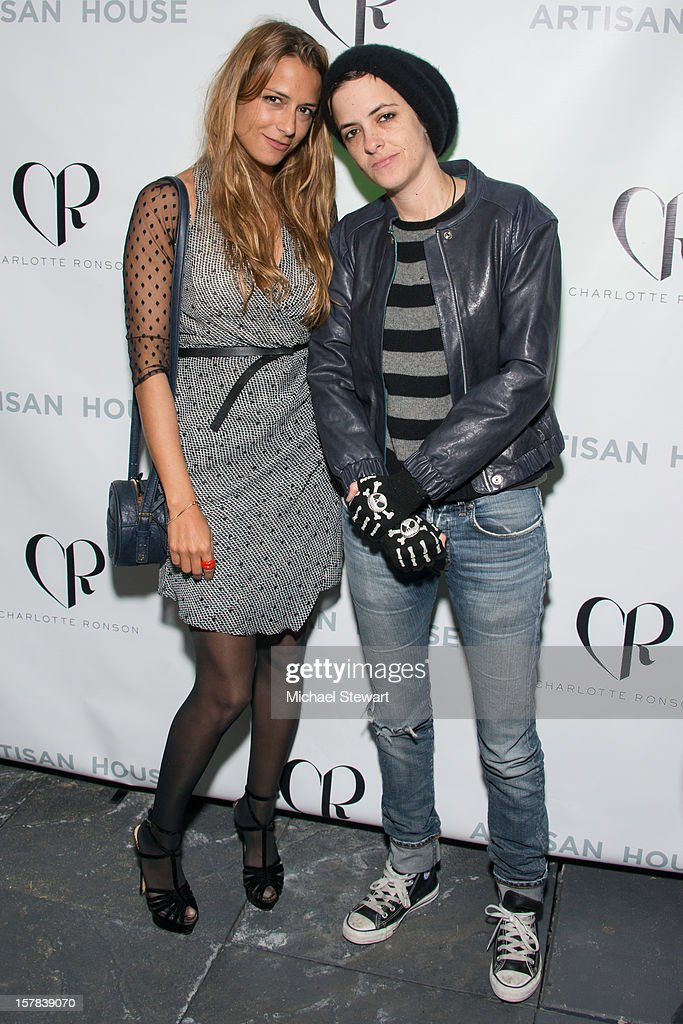 Designer Charlotte Ronson (L) and DJ Samantha Ronson attend Charlotte Ronson And Artisan House Handbag Launch Event at Toy Restaurant on December 6, 2012 in New York City.