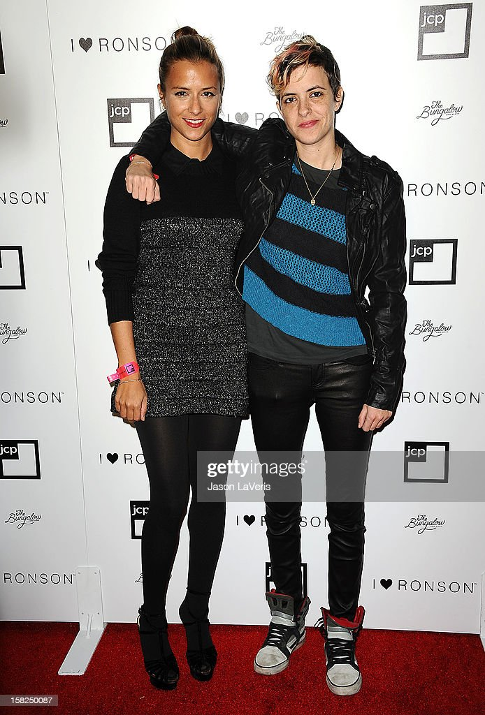 Designer Charlotte Ronson and DJ Samantha Ronson attend the I Heart Ronson celebration at The Bungalow on December 11, 2012 in Santa Monica, California.